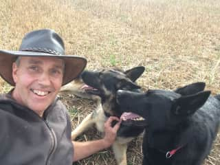 Me and the lovely German Sheppards Czeyna and Caesar