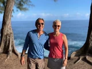 On a morning walk on the big island of Hawaii.