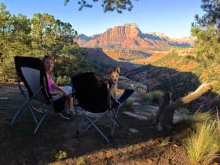 Camping outside Zion National Park, Utah