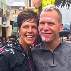 Diane and Jeff taking in the Ecuadorian Carnival Tradition - such fun!