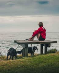 Living the dream with Obi and Nessa, Bawley Point, NSW, Australia