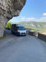 Our camper with which we travel around the world Now traveling in France  for 7 months. France because of the Covid