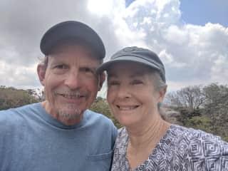 Jack and Victoria hiking Craggy Gardens, North Carolina.