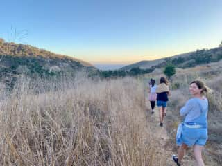 Hiking and glamping with friends outside of LA