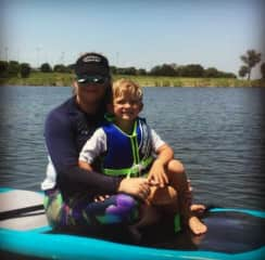 My nephew and I doing SUP (stand up paddleboard