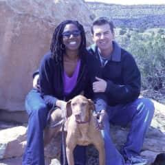 Steve, Aisha and Sadie in Santa Fe, NM