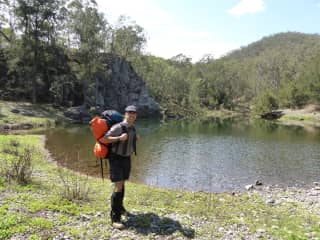 Out on a 4 day hike in the wilderness of Australia