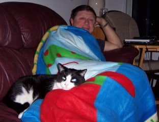 Don and our cat Bandit