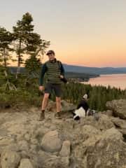 Hiking in Tahoe with Ruffles in Tahoe!