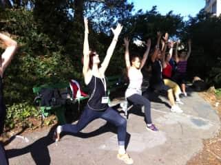 I am teaching hiking/yoga