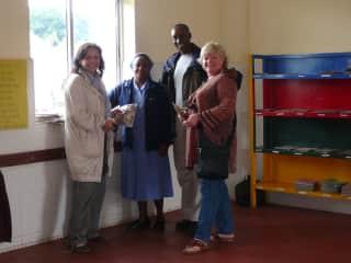 Helping a school in Tanzania