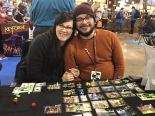 Did we mention we love board games?!  Jess and Vik at PAX Unplugged, a board game convention in Philly.