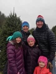 Our family's annual tradition of cutting down a Christmas tree.