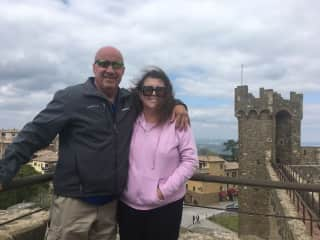 Greg and Joni traveling in Italy