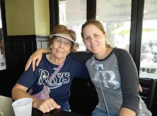 Me and Grandma going to a ball game.