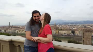 Chris and Ellen in Florence