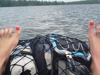 Kayaking on the French River.