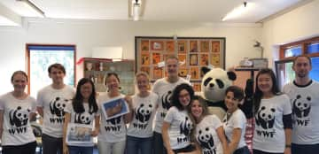 Soyun is also working as a volunteer for WWF, World Wildlife Fund.
