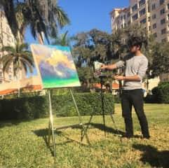 Painting demo at the Sarasota Bay Club - Retirement Community