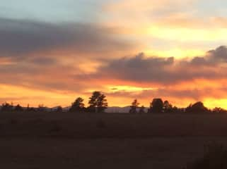Sunset (looking west from property line)