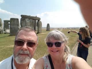 My Husband Hy and myself, Kathee last year at Stonehenge.
