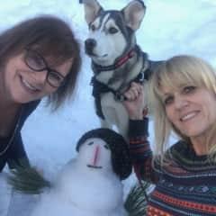 Building a snowman in Big Bear CA