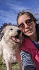Anusch and her dog, Helena