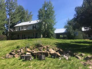 View of the house from backyard