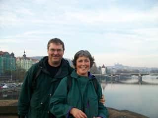 Pat and Derek in Prague
