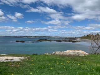 Fort Foster ocean side walk