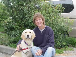 With Gayle, my first service dog-in-training