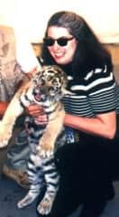 Marilynne and tiger cub