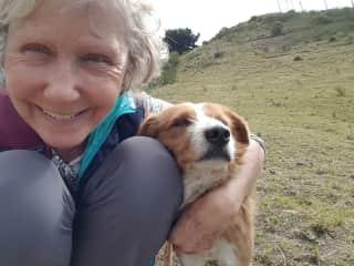 With a stray dog in Ecuador 2018