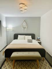 This is the second guest room with ensuite bathroom where you could stay.