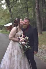 Wedding kisses.