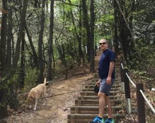 George and Sierra hiking in Korea
