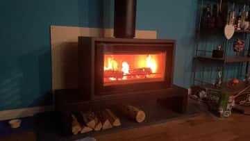 Nice and toasty on a cold evening.