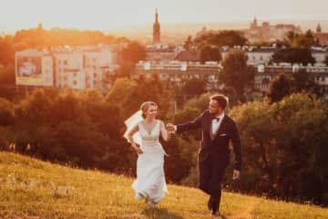 Wedding photo of me and Mateusz