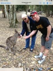 LOved feeding the Kangaroo