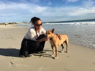 Me and Milo enjoying the beach June 2017