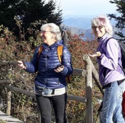 Out for a hike with my friend Betty and her hiking group.