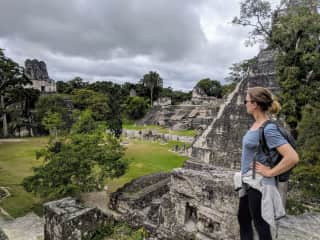 I love to travel!  This is a pic from my day trip to Tikal in Guatemala.