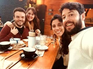 Coffee with friends in our hometown Mendoza Argentina, a favourite activity of ours.
