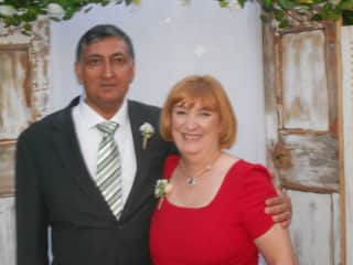 Sheila and at our sons wedding