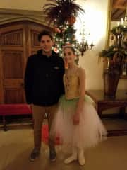 My son traveled for 20 hours to catch his sister's performance in The Nutcracker! Always love when he can get home!