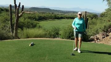 Playing golf in Az