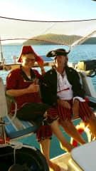 In pirate costume