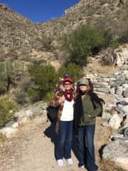 My friend and I hiking in Sabino Canyon, Tucson, Arizona 12/17