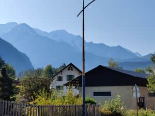 View on to the Mont Blanc Massif