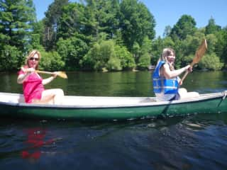 Canoeing with my sister (me onthe right)